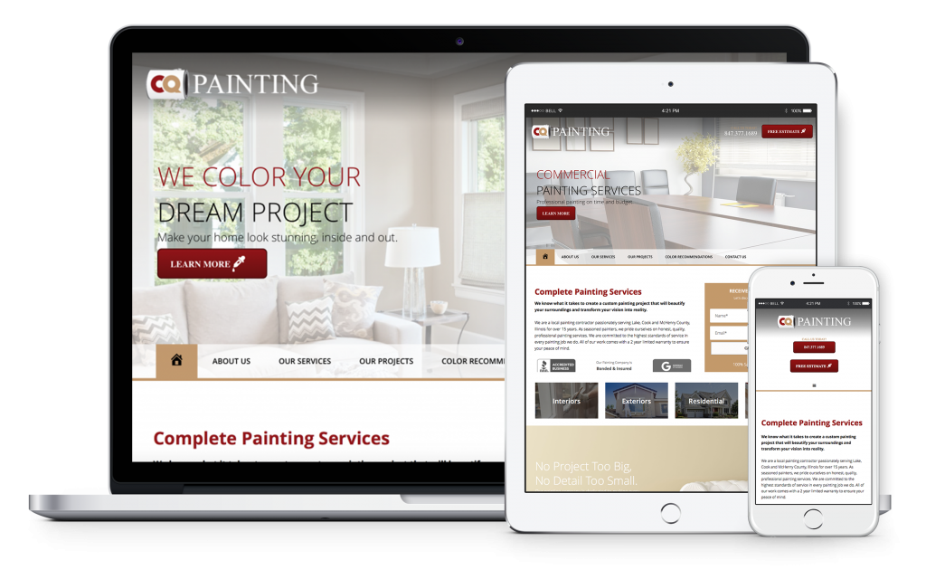 CQ Painting Web Design Case Study